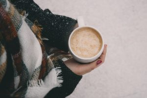 Hot drink on snow