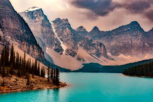 Lake in Canada showing why it's great to move to Canada