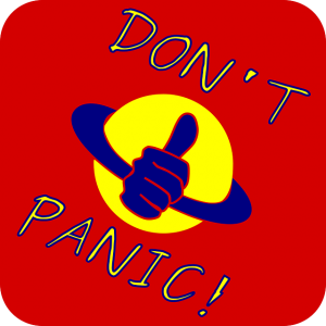 Do not panic sign.