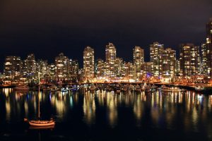 Vancouver at night.