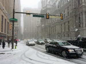 a bit of snow on the streets of Philadelphia , but moving to Philadelphia is still appealing