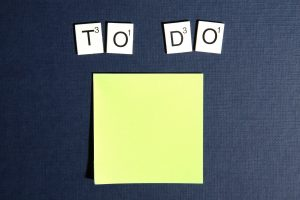 A blank post it for a to do list. Planning ahead is number one step to save money while moving