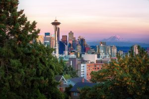The cityscape you can enjoy after moving from Canada to Seattle.