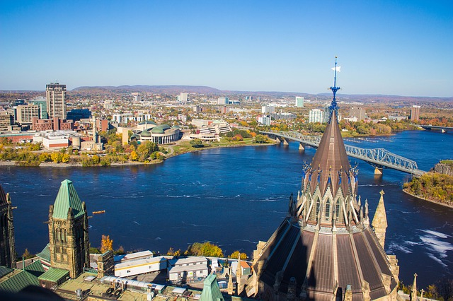 Ottawa seen from above.