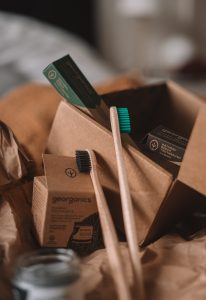Toothbrushes and some other items that should be in your essentials bag when leaving a small town for a big city.