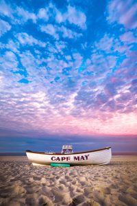 Cape May boat on the beach