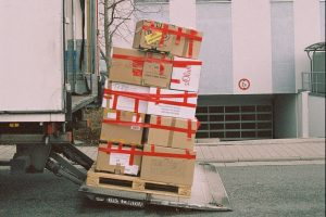 Moving boxes being loaded